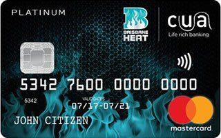 CUA Brisbane Heat supporters' Platinum credit card