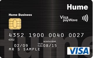 Hume Bank Business Visa Credit Card Commercially Secured