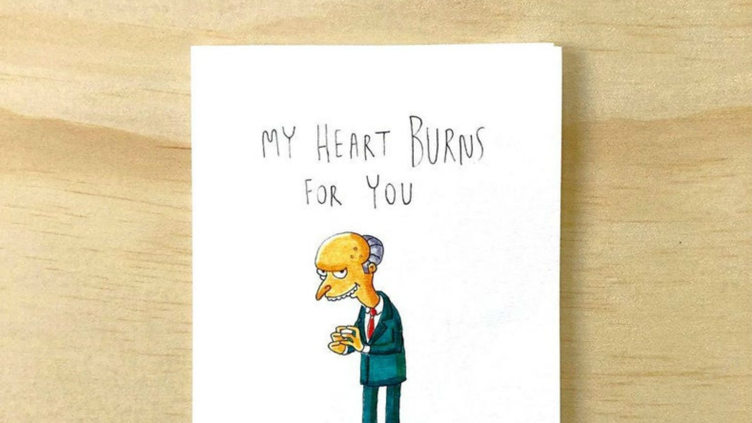 Funny Simpsons Valentine's Day card