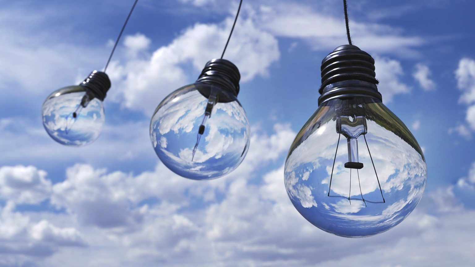 Light Bulbs Against Sky