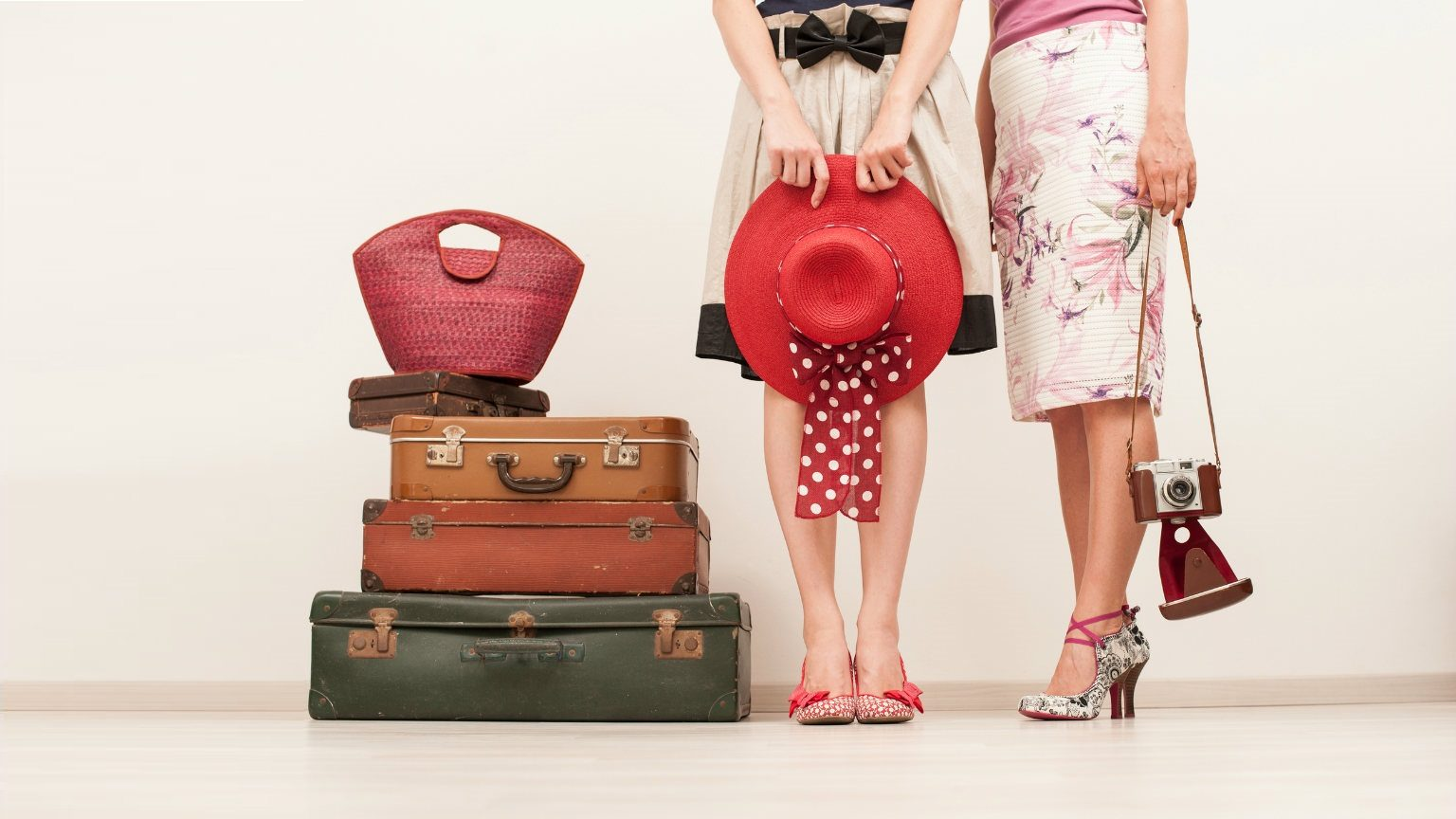 Women and their travel essentials