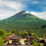 View of Mount Agung