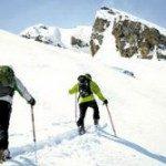 People skiing off-piste
