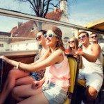 People on a travel Contiki tour