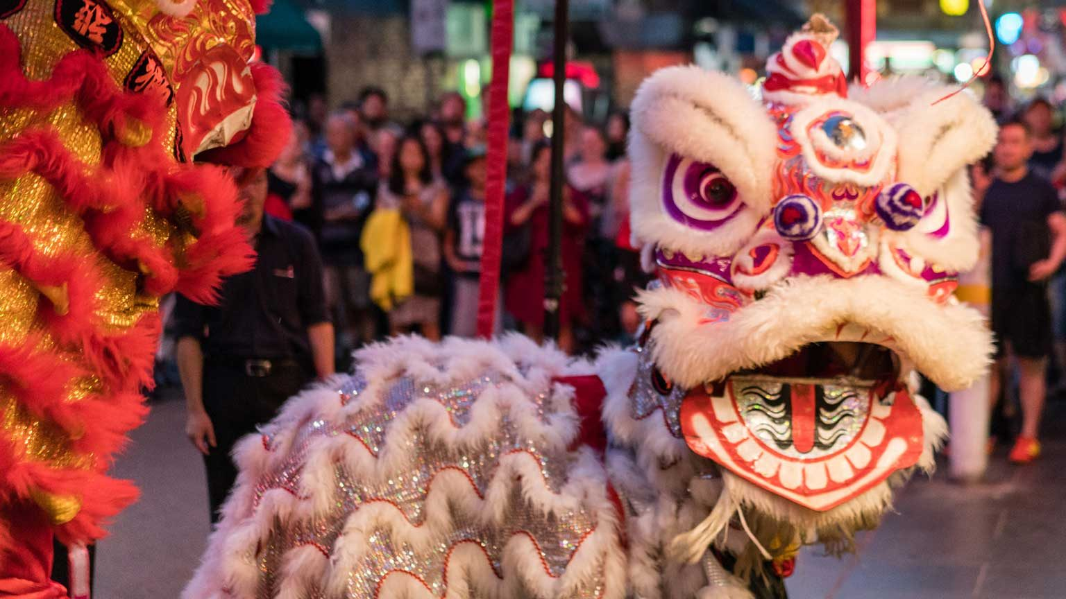 Chinese New Year celebrations in Melbourne.