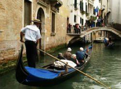 Over 75s in a Venice gondola