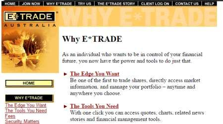 etrade log in australia