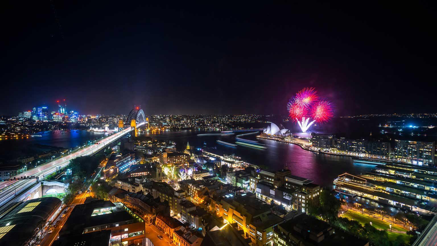 Sydney fireworks.