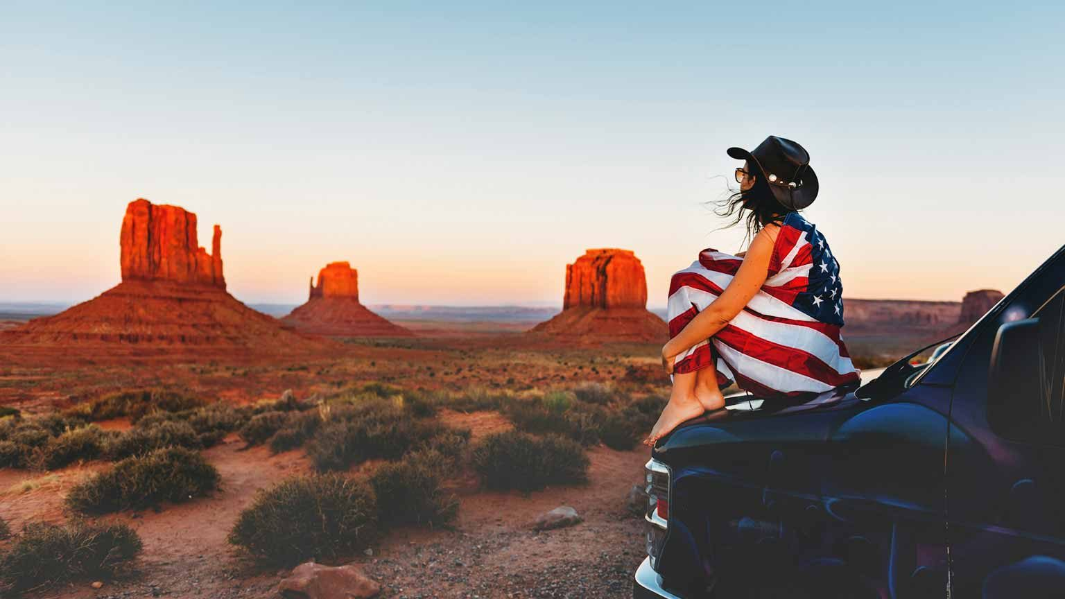 Woman at Monument Valley, USA
