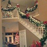 stair wreath