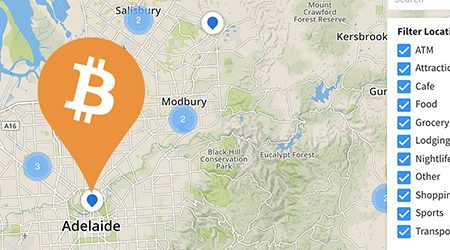 MAP: Bitcoin ATMs and shops that accept BTC payment in Adelaide