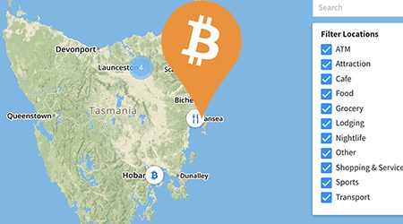 MAP: Bitcoin ATMs and shops that accept BTC payment in Tasmania