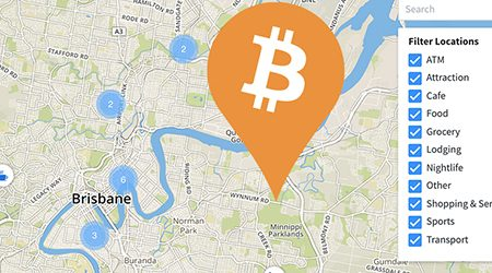 MAP: Bitcoin ATMs and shops that accept BTC payment in Brisbane