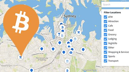 MAP: Bitcoin ATMs and shops that accept BTC payment in Sydney