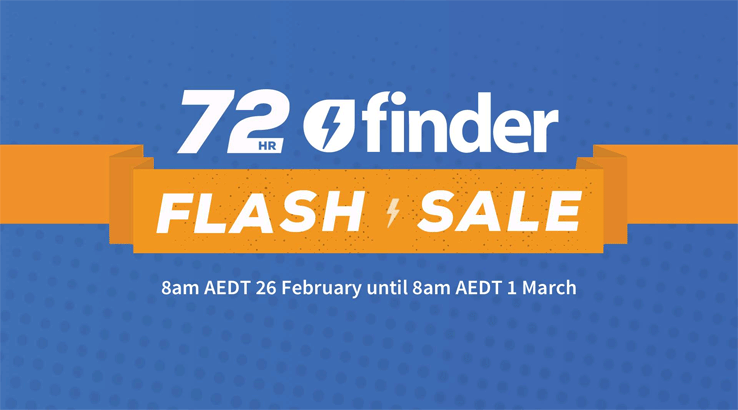 The finder Flash Sale has officially begun