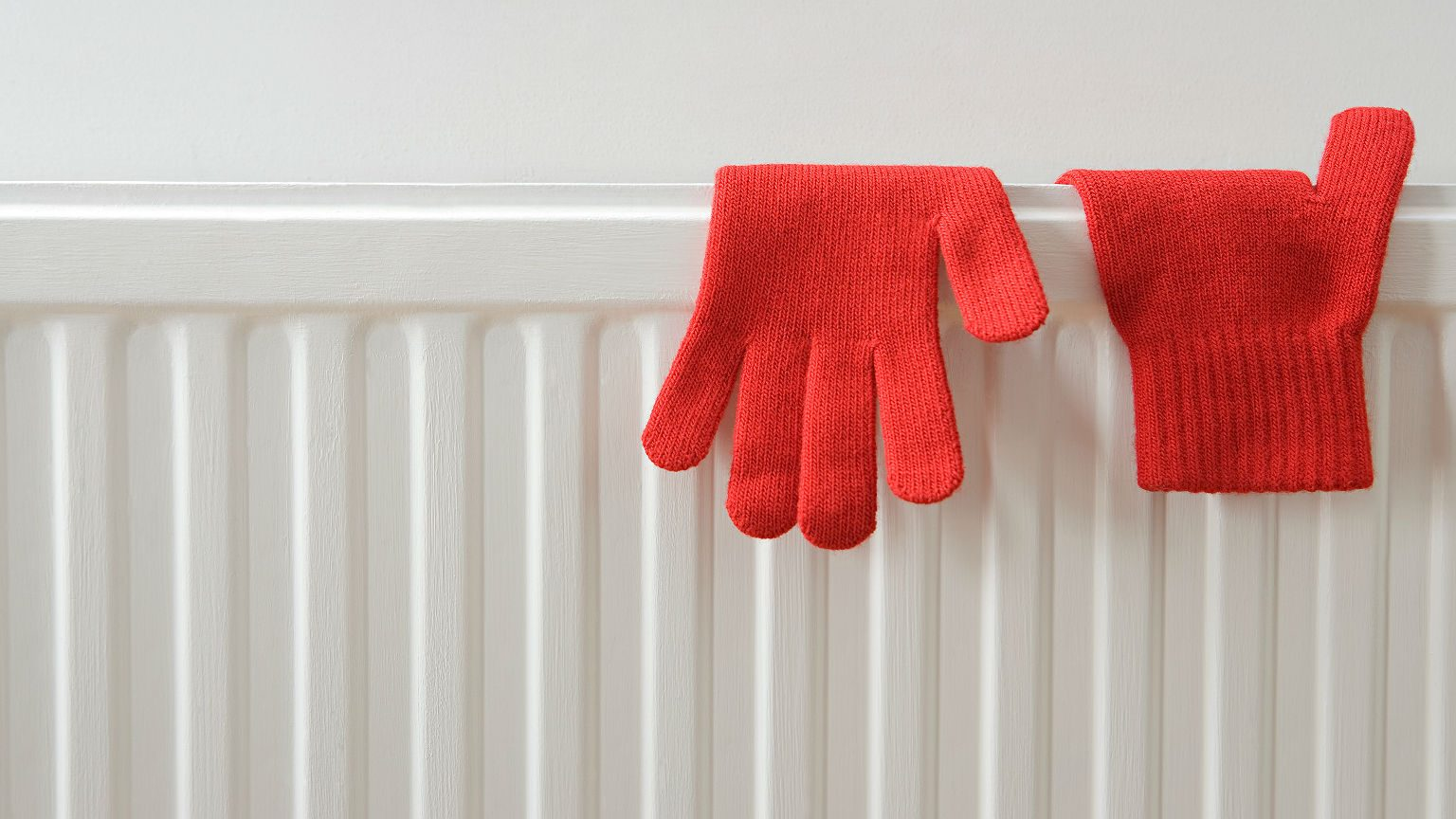 red gloves and heater