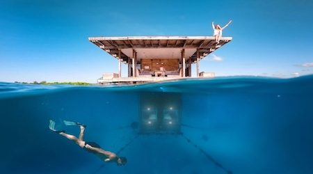 Truly connect with nature in an underwater hotel