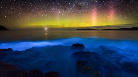 Where to see bioluminescent water