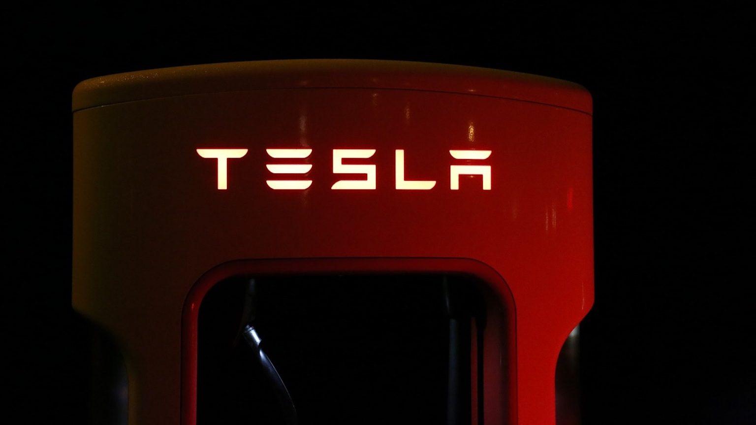 Tesla charging station.