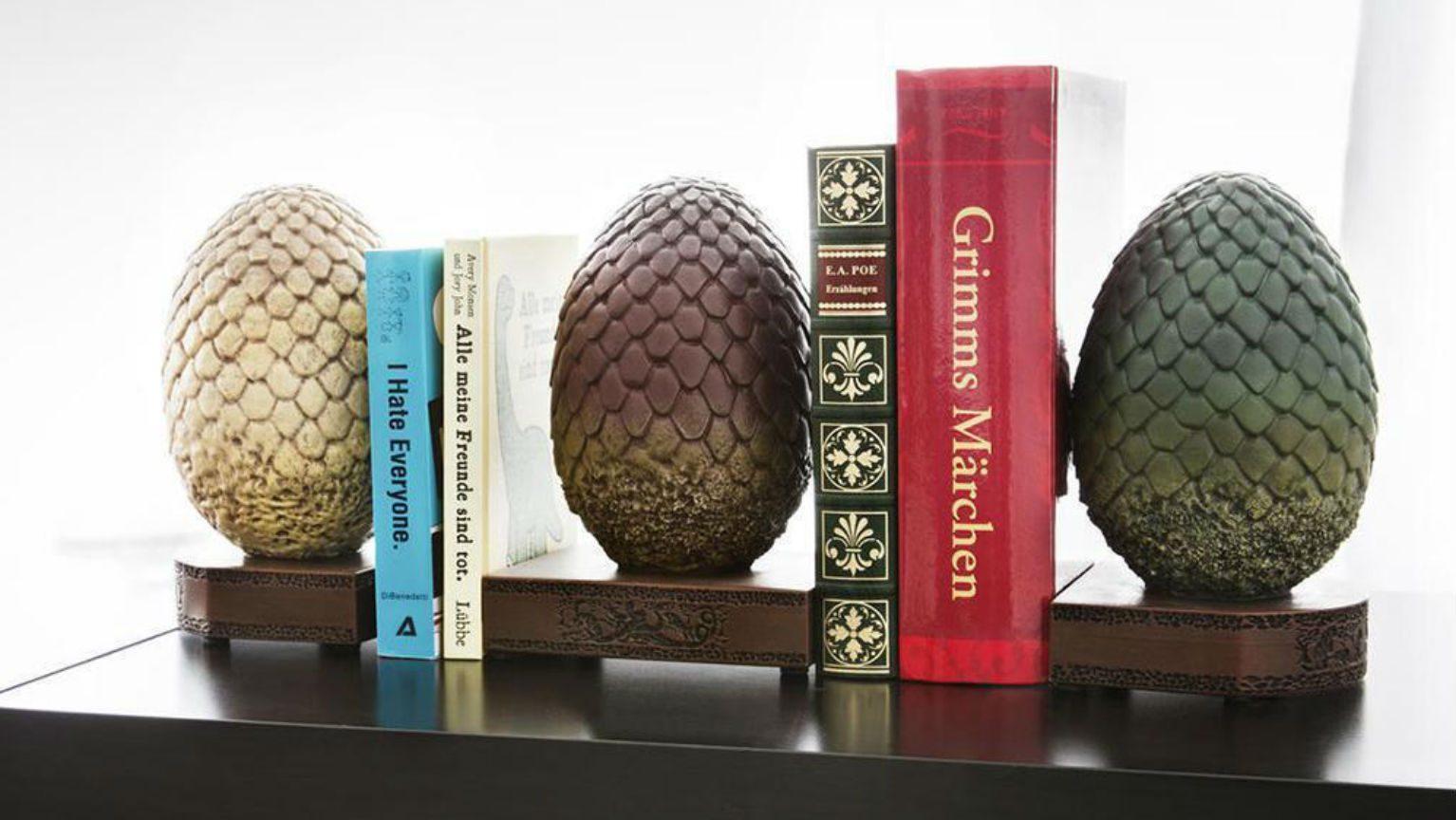 Dragon egg bookends