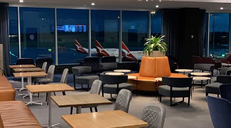 Qantas Domestic Business Lounge Melbourne Review