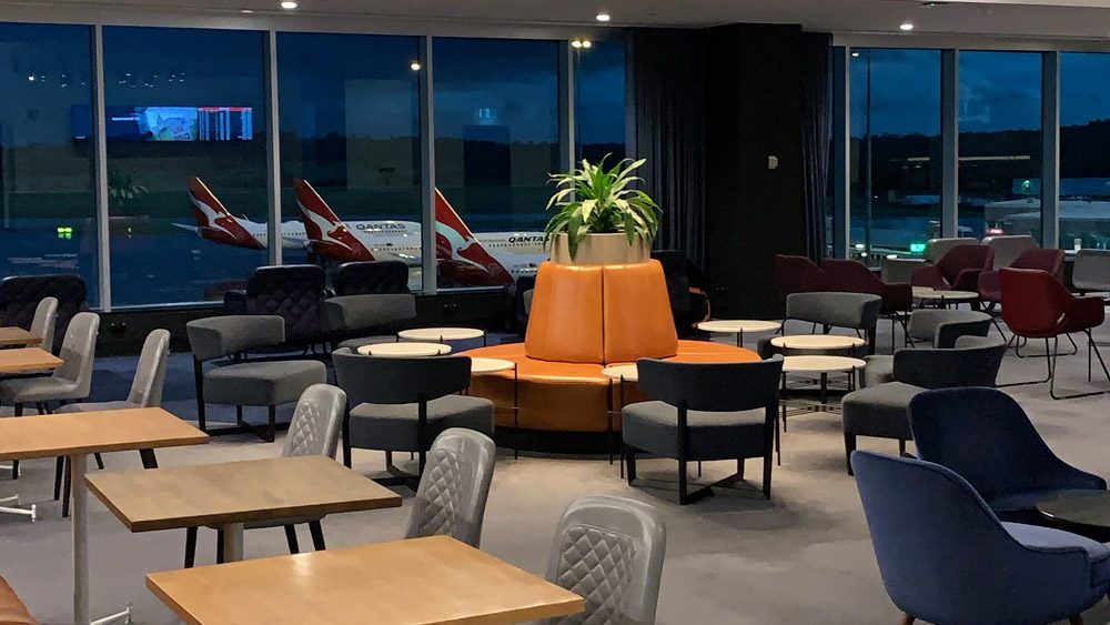 Qantas Domestic Business Lounge Feature Image
