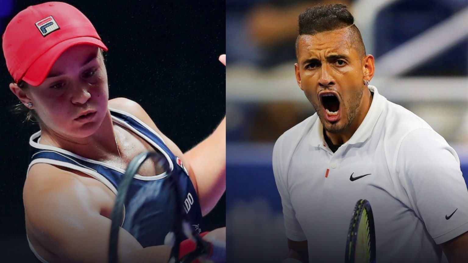 Tennis. Ash Barty, Nick Kyrgios.