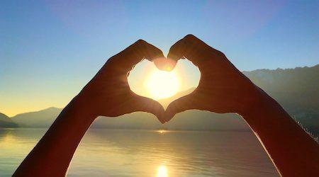 Heart Shape and Sun