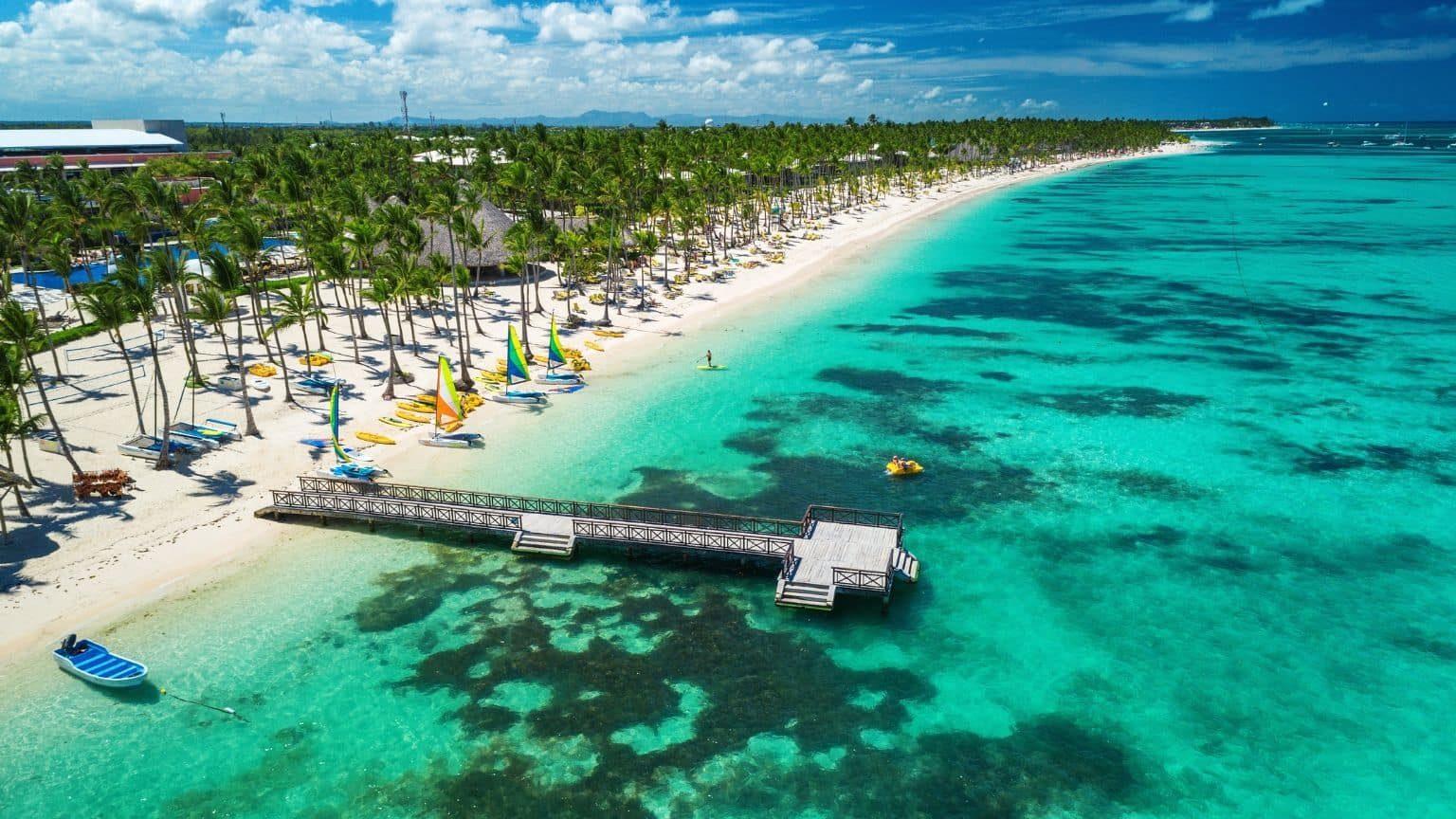 Aerial view of resort in Dominican Republic
