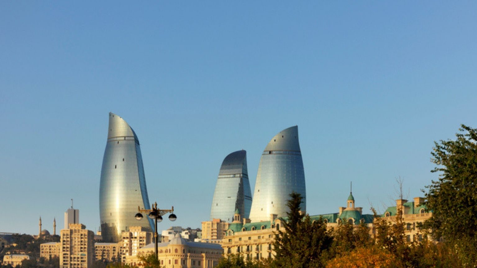 Baku Flame Towers in Azerbaijan