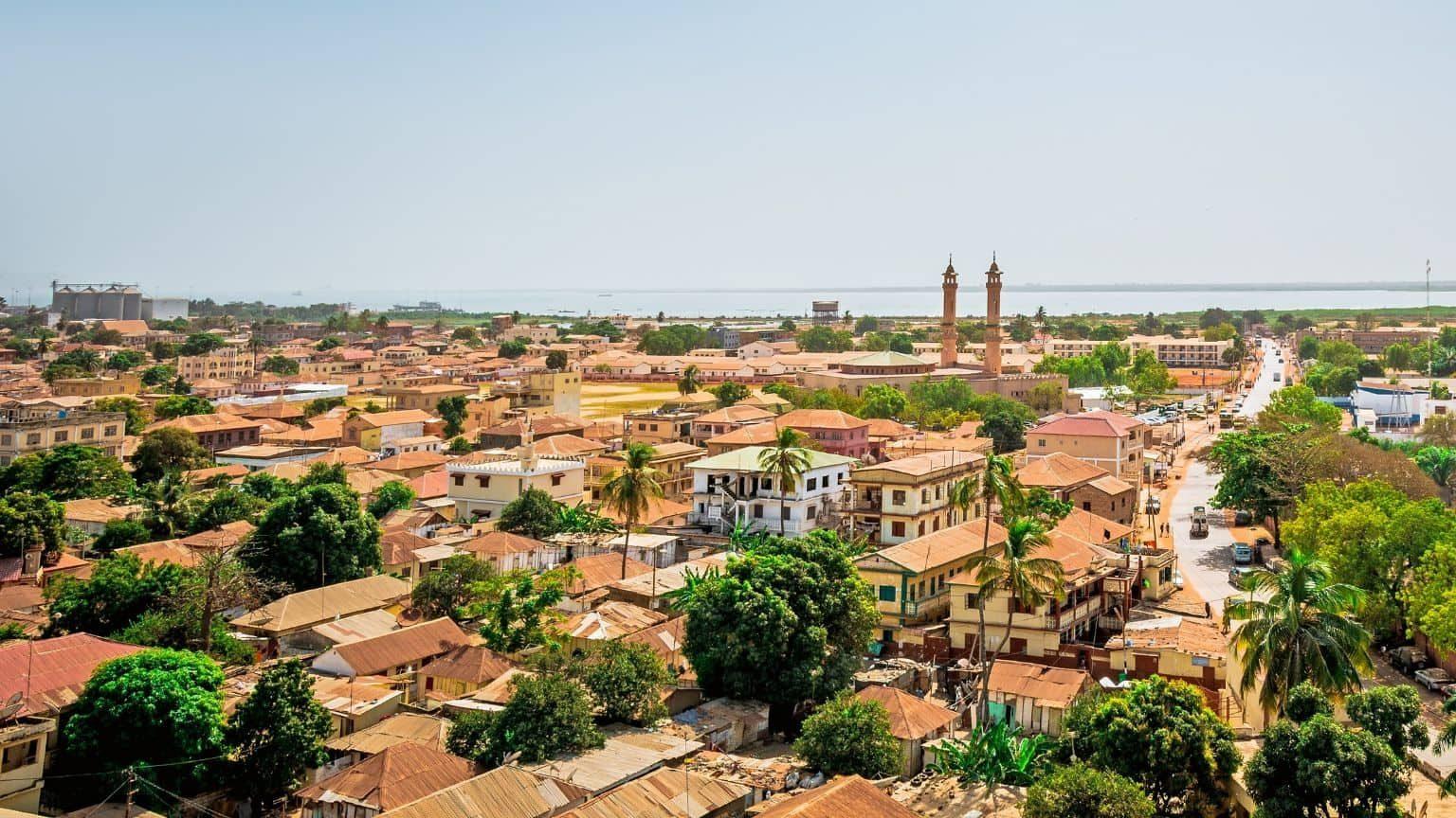 Banjul and Gambia River