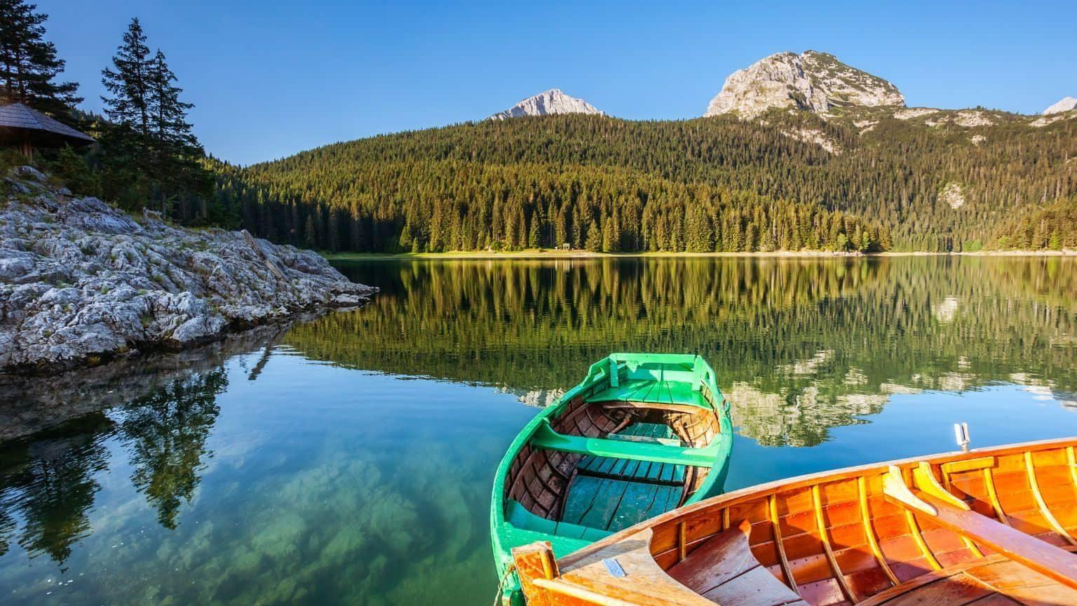 Black Lake in the Balkans