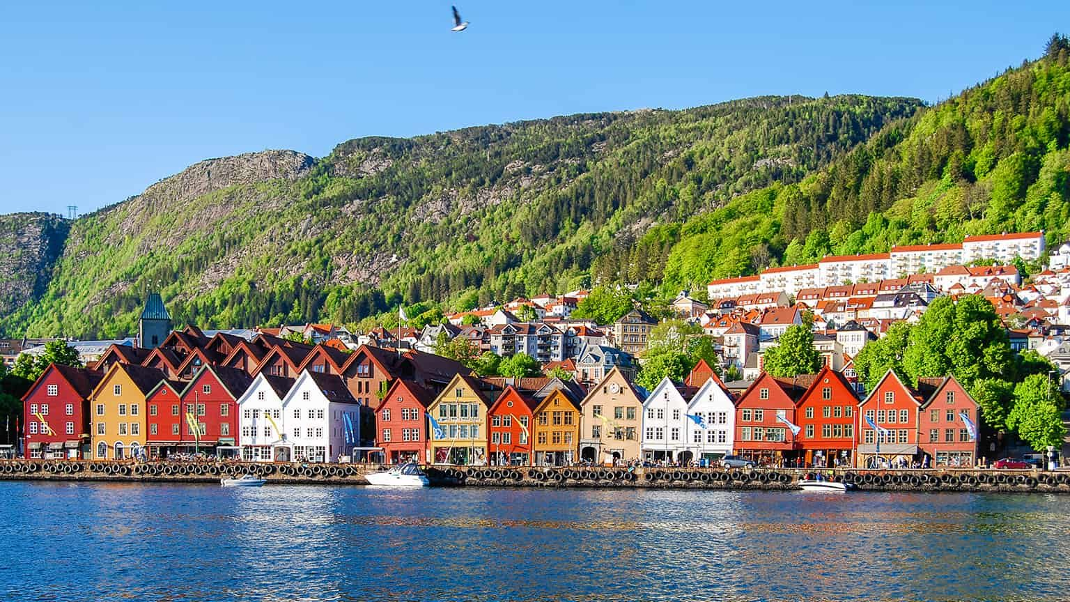 Colorful houses in Bergen, Norway