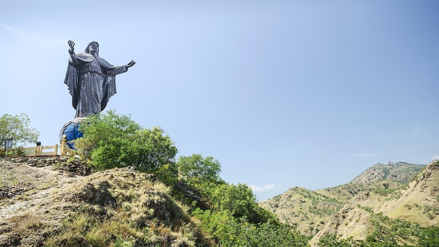 Cristo Rei statue near Dili East Timor