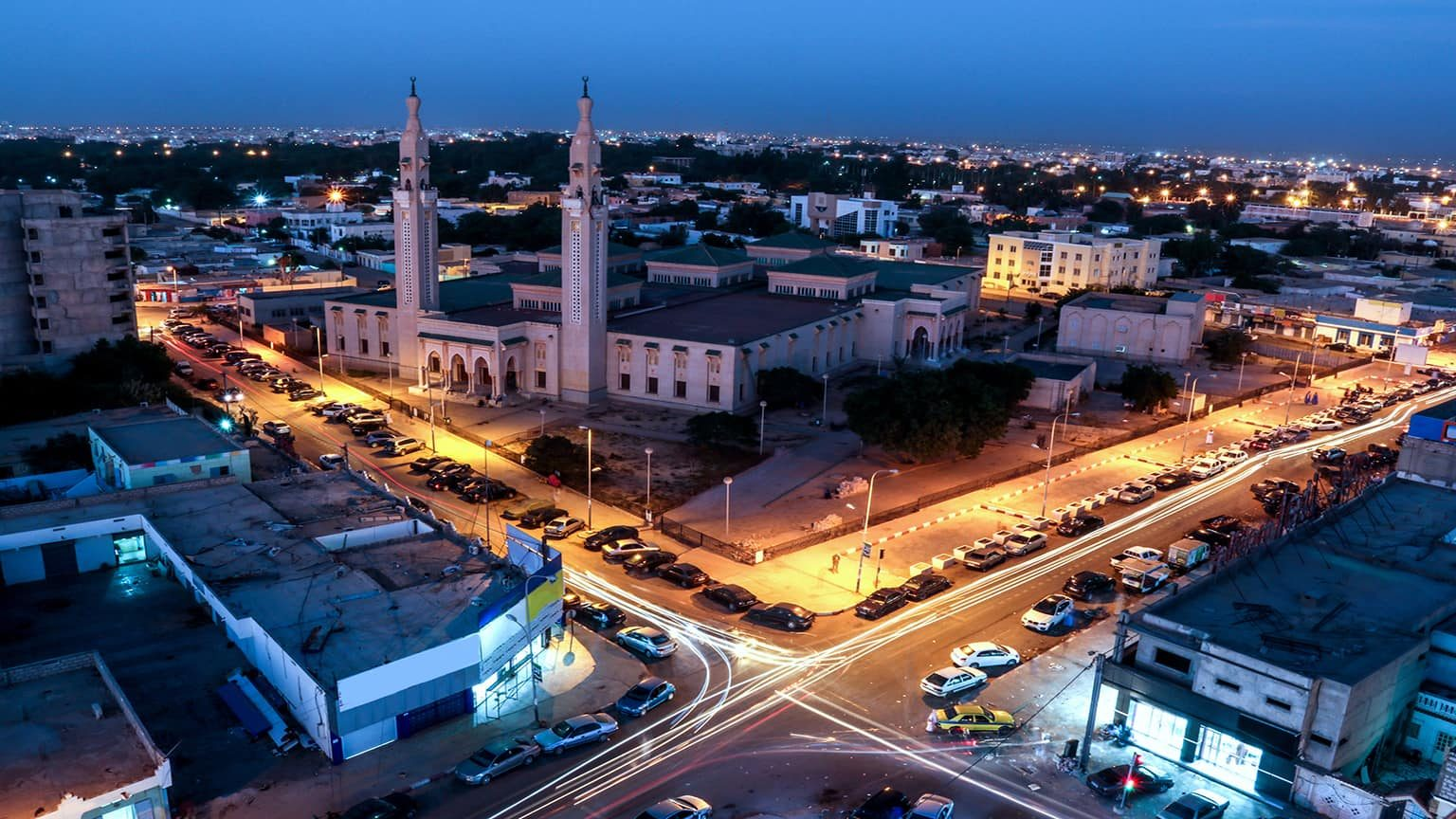 Evening in Nouakchott, Mauritania