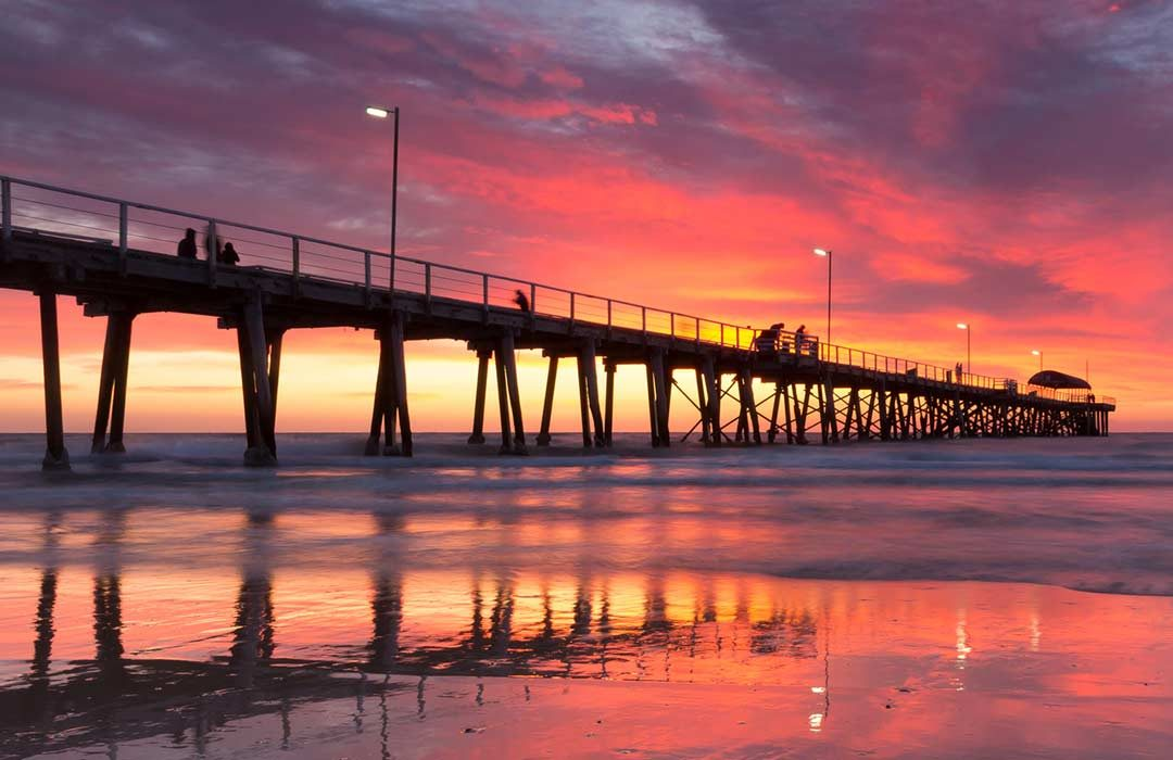 Glenelg Pier, Adelaide at Sunset