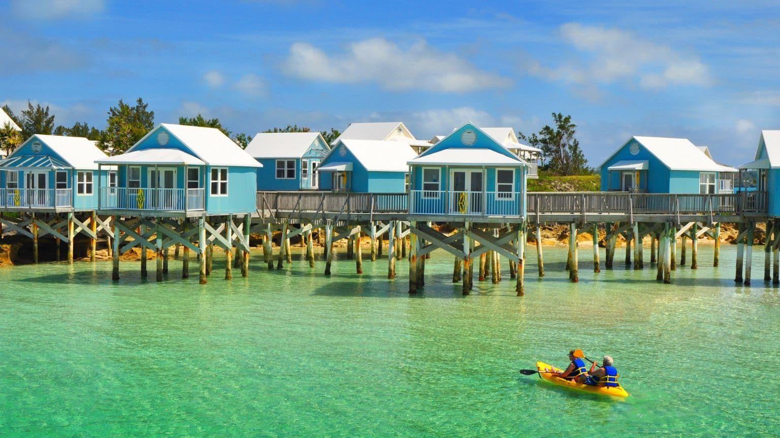 House on stilts in Bermuda