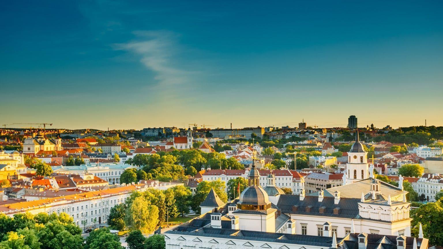 Panoramic view of Vilnius, Lithuania