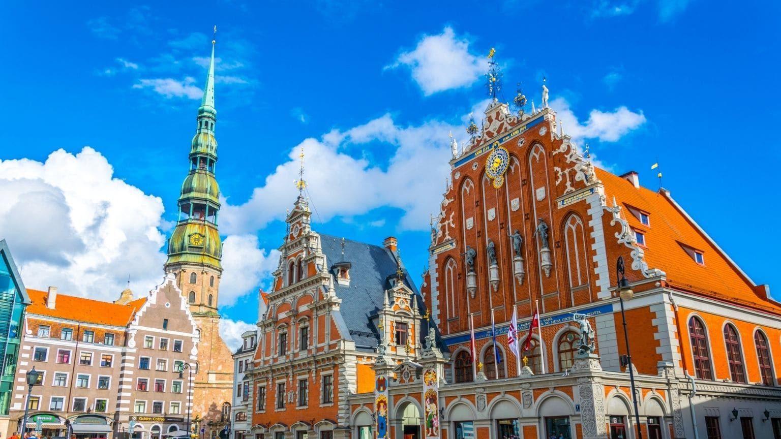 Ratslaukums square in Latvia