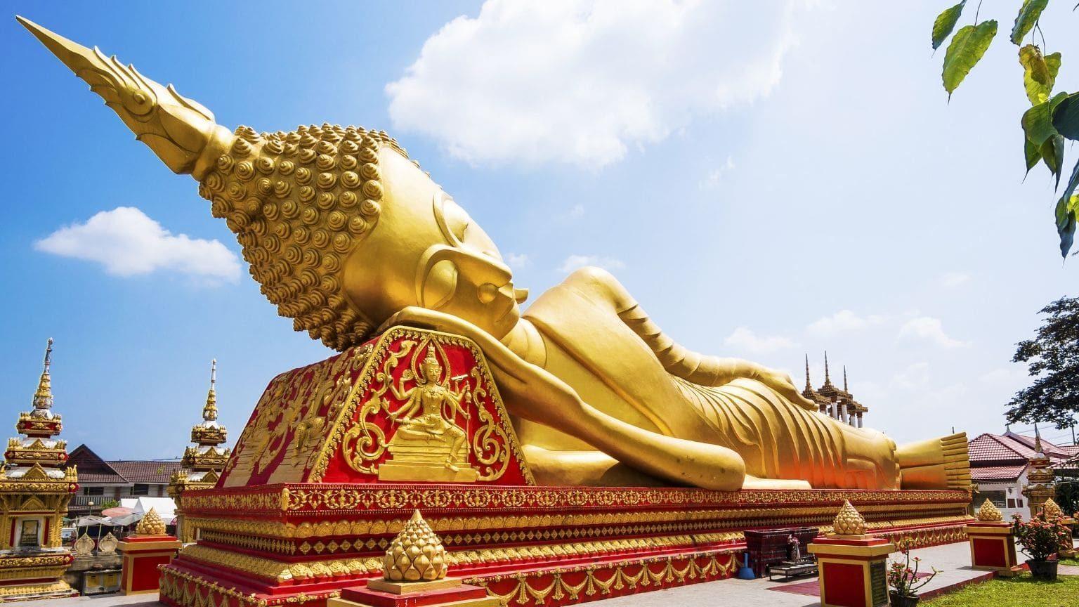Reclining Buddha in Laos