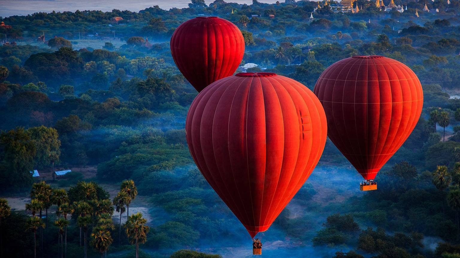 Red hotair balloon