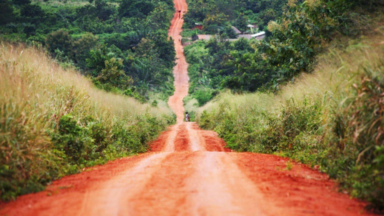 Rough road near Benin