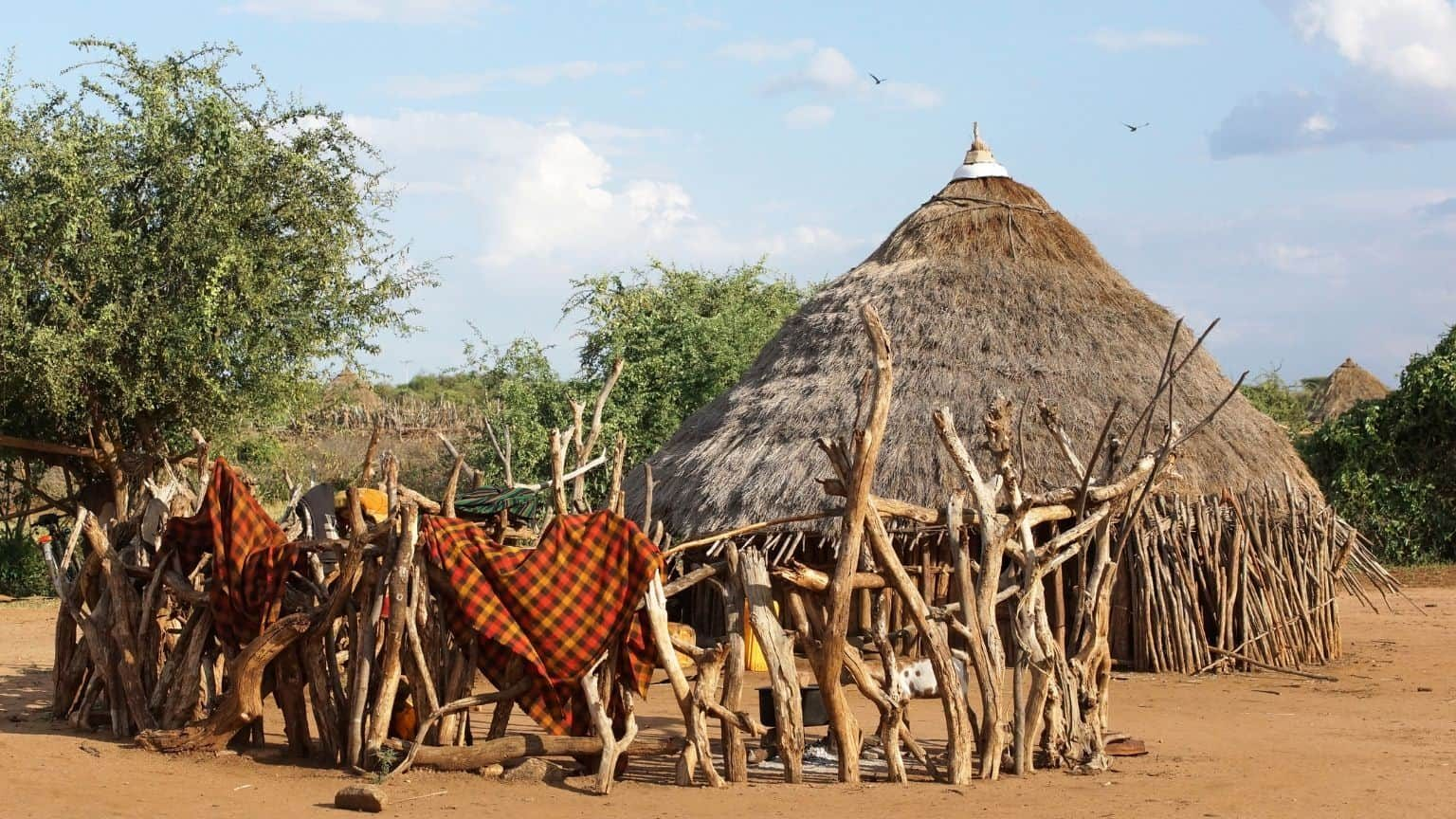 Traditional houses in Ethiopia