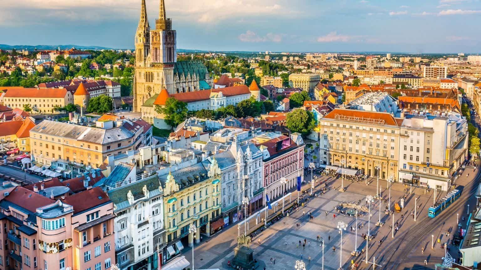 Zagreb City main square in Croatia