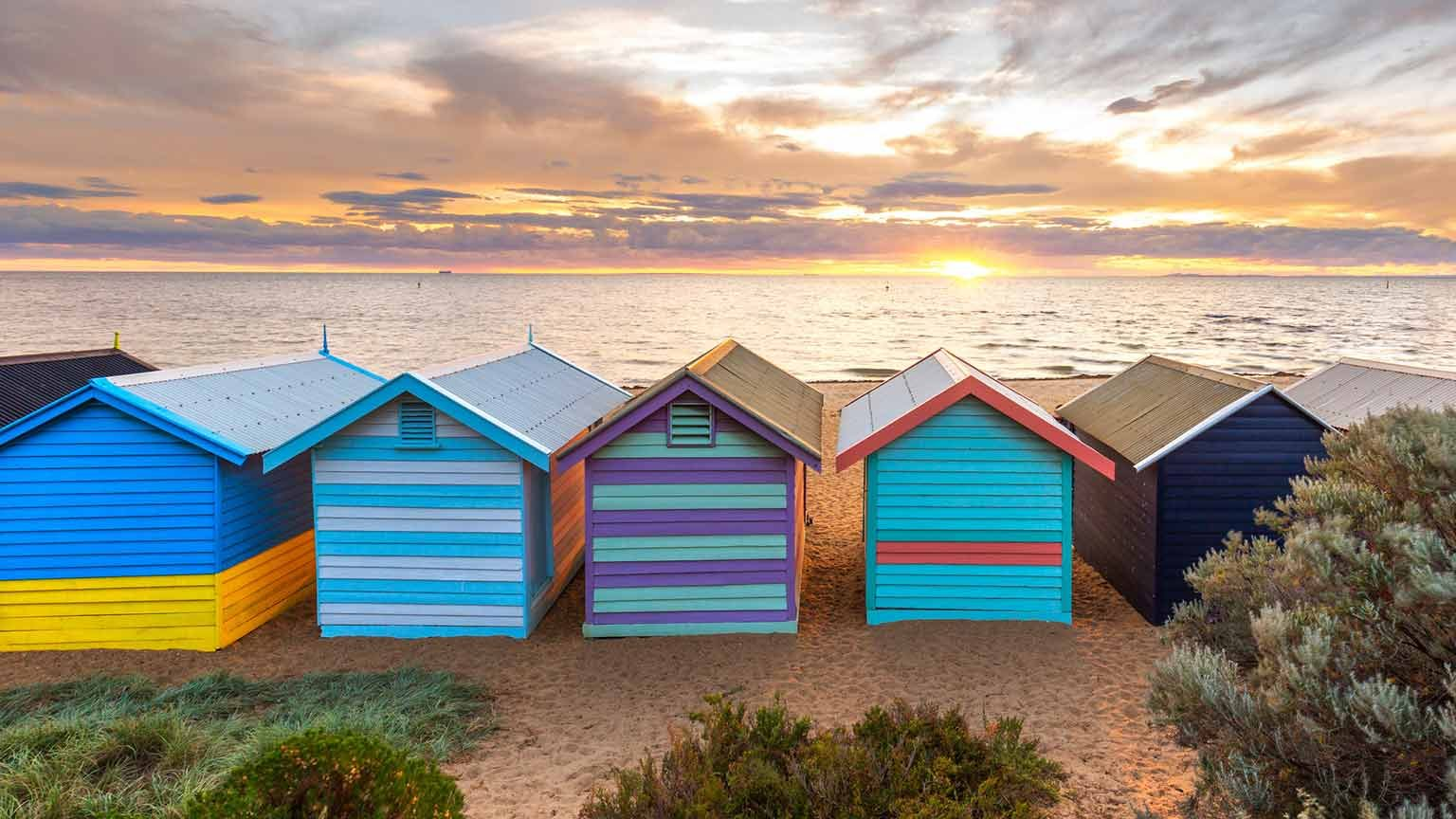 Brighton Beach sheds, Melbourne