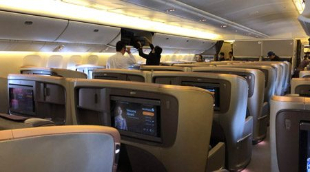 Singapore Airlines 777-300ER Business Class Singapore to Los Angeles Review