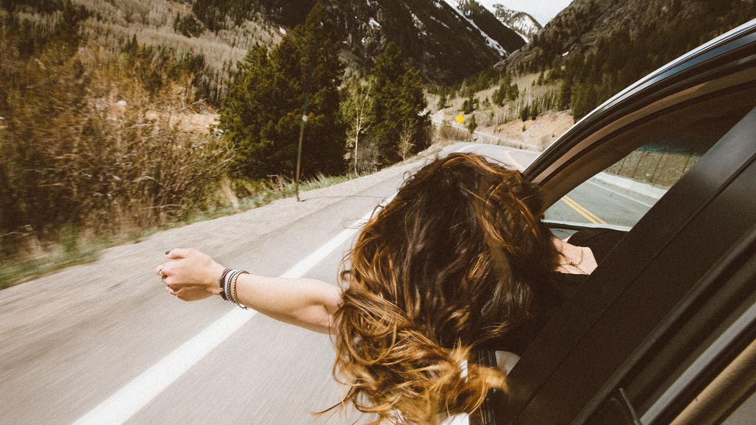 Woman enjoying ride