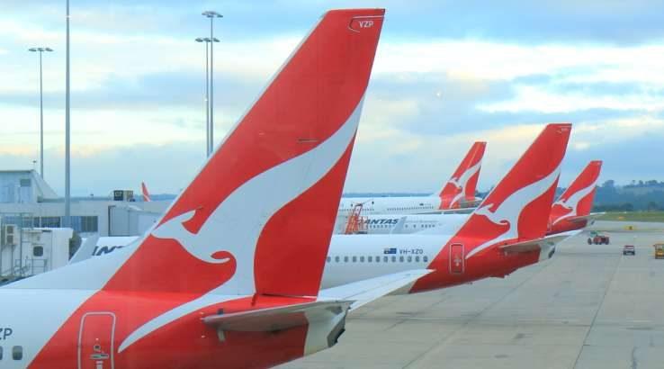 Qantas aircraft tails