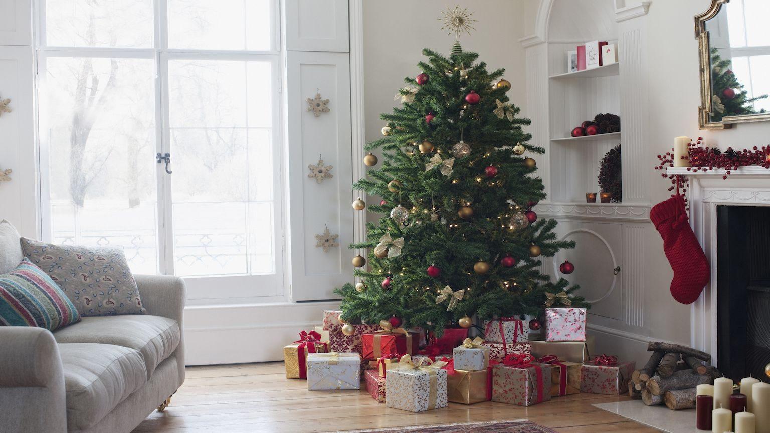 Presents underneath the Christmas tree