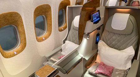 Emirates 777-300ER Refurbished Business Class Dubai to Melbourne Review